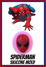 SPIDERMAN SILICONE MOULD. PERFECT FOR FONDANT SUGAR CRAFT.CHOCOLATE. ECT