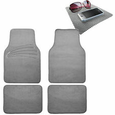 4pcs Full Carpet Floor Mats Universal Fit for Car SUV Gray w/ Gray Dash Mat