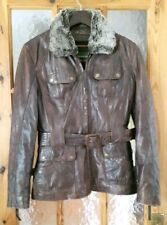 Womens HIDEPARK Brown Distressed Style Real Leather Jacket Size:M - 36""