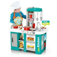 Kitchen Play Set For Kids Pretend Playset Baker Toy Cooking Toddler Girls Boy BE