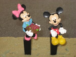 Vintage Walt Disney Minnie Mouse & Mickey Mouse Cake Toppers Set Exceptional Wow