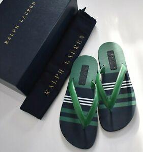 🆕RALPH LAUREN PURPLE LABEL LAYTON Nappa Leather THONG Sandals US-9.5D EUR-42.5