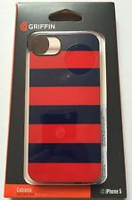 Apple Iphone 5 5S Genuine Griffin case cover hard shell back red blue cabana