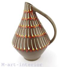 Mid Century Modern Krug Dekor Fayence / Keramik Enamel Pottery Vase 50er 60er