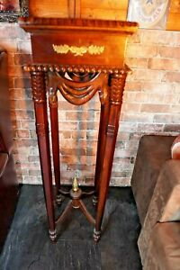 Antique Mahogany Torchiere Plant Stand