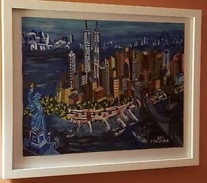 Edward Dwurnik Watercolor New York