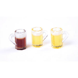 1:12 Dollhouse Mini Beer Cups Miniature Drink Mini Cups Doll House N IOB.bu