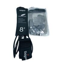 Unigear Premium 8' Surf Leash & Underwater Phone Case With Lanyard Black Clear