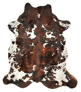 Cowhide Rug - Tricolor,High quality, Kuhfell,(4.5 ftx7 ft)-(5 ft x 9ft)