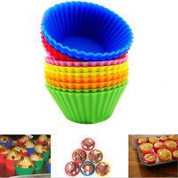 12 x Muffin Förmchen Muffinform Back-Förmchen Silikon Cup-Cake Kuchen 1 set Neu