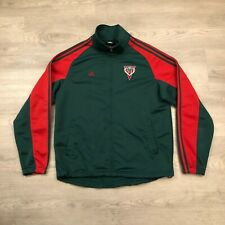Adidas Milwaukee Bucks NBA Mens Green Full Zip Track Jacket Polyester Size Large