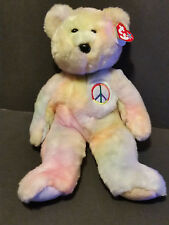 "TY Beanie Buddies 1999 Peace the bear  14"" tall w/ tag"