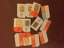 25 pieces Brand New At&T Standard size Sim card for Prepaid Go Phone Sku 6006A