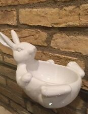 Pottery Barn BELLY BUNNY Easter Candy Dish RABBIT Adorable Bowl NIB Serving New
