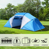 4-6 Person Sport Camping Tent Extended Dome Tent 2000mm Waterproof Portable