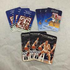 1986-87 & 88-89 TEMPLE UNIVERSITY BASKETBALL & LADY OWLS VTG POCKET SCHEDULE LOT