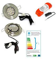 Flache LED Decken Einbauleuchte 12V Eli 3W =25W Kleine ET 1,5m Kabel 20W Trafo