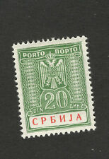 GERMANY OCC SERBIA-MH-STAMP-POSTAGE DUE 20 d - 1942.