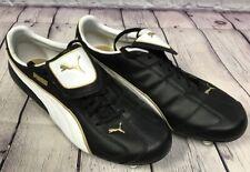 NEW Puma Liga XL SG Soccer Cleat Shoes Color Black White Team Gold Size 9 NIB