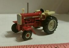 1/64 ERTL farm toy custom ih farmall 1206 tractor w/ chrome stack, front fenders