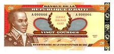 Haiti … P-271A … 20 Gourdes … 2001 … *UNC* ... note from 1st pack .. A000066.