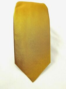 BROOKS BROTHERS Gold Solid  Twill Silk Tie MADE IN USA NWT