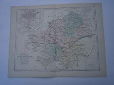 Carte 19° 1852  couleur atlas Malte brun Département de Loire inférieure Nantes