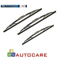 Bosch Superplus Front + Rear Window Wiper Blades For Nissan Micra K11