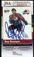 Ray Bourque JSA Coa Hand Signed 2000 Upper Deck Vintage Autograph