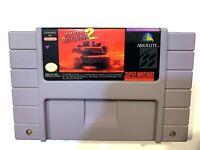 Super Battletank 2 SUPER NINTENDO SNES Game Tested + Working & Authentic!
