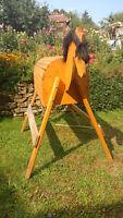 Holzpferd Voltigierpferd SItzhöhe 110 cm für draußen, gebraucht