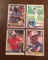 TIM RAINES Lot C (33 cards) Topps Donruss Fleer 1982 1983 1984 1985 - HOFer
