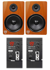 "(2) Rockville DPM8C Dual Powered 8"" 600 Watt Active Studio Monitor Speakers"