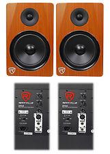 """(2) Rockville DPM8C Dual Powered 8"""" 600 Watt Active Studio Monitor Speakers"""