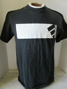 Vintage Black & White Adidas T-Shirt Size Small Made in Canada