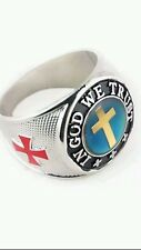 NICE IN GOD WE TRUST MOOD RINGS 70S STYLE CROSS  FREE COLOR CHART