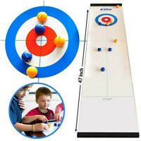 Tabletop Curling Game Portable Shuffleboard Sport Board Games for Kids Family