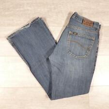 """Mens LEE Denver Bootcut 31""""W 30""""L Vintage Stonewashed Blue Denim Jeans #F3527"""