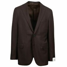 NWT CARUSO Brown Wool 2 Button Sport Coat 54/44 R Drop 7