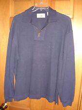 Gap mens 1/4 zip shirt size L Large USED WORN navy blue sweatshirt