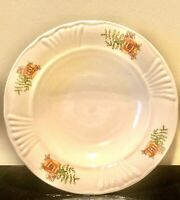 Vintage Faianta Sighisoara FS Romania Poppy Pattern Serving Bowl