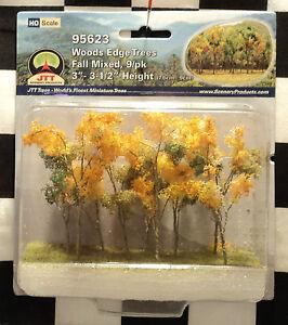 """JTT SCENERY 95623 WOODS EDGE TREES - FALL MIXED  3"""" - 3 1/2""""  HO-SCALE  9/PK"""