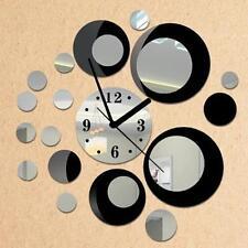 New Fashion Removable Diy Acrylic 3D Mirror Wall Sticker Decorative Clock1