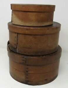 Group of Three Antique Pantry Boxes