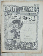 Media magazine - Radio Times.  22nd-28th. April 1951 (sound schedules only)