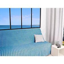 Housses de canapé, fauteuil, et salon bleus en polyester pour le salon