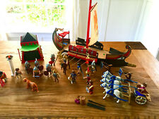 Playmobil Roman Ship 5390 + gladiators chariot soldiers catapults mixed set lot