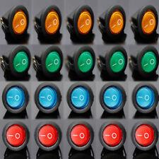 20pcs LED Dot Light 12V Car Boat Auto Round ON/OFF Rocker Toggle SPST Switch Set