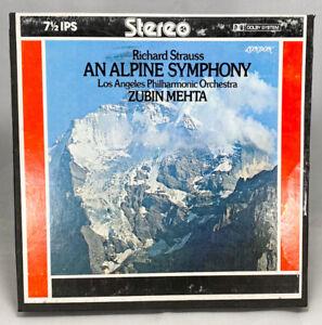 An Alpine Symphony Richard Strauss Mehta Reel to Reel Tape 7.5 IPS London Dolby