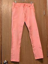 Girls Justice Jeans Size 16 R Shine Bright Orange Pink E514